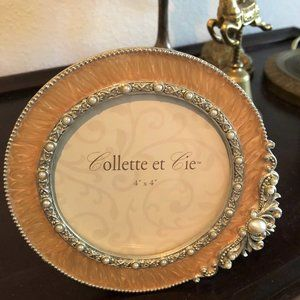 French Collette et Cie Enameled Jeweled Picture Fr